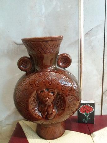 ваза обливная керамика олимпиада 80 ссср