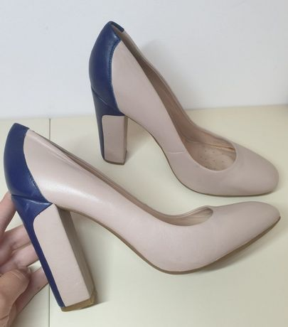 Туфли Geox Respira на каблуке кожа 40 размер