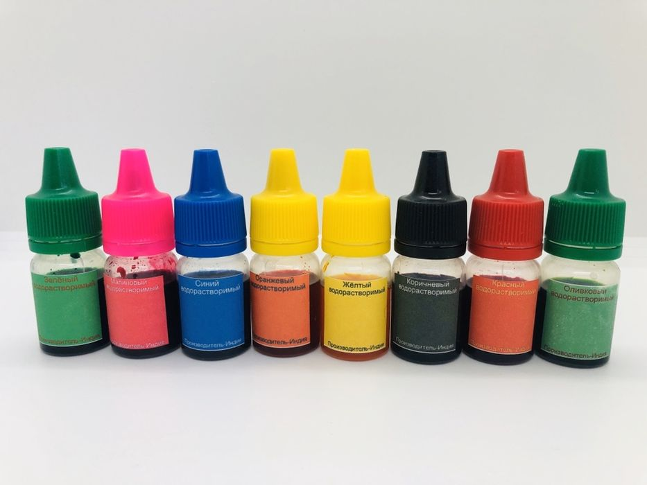 Пигмент краситель пищевой водорастворимый для слаймов, 9 цветов Жовтневое - изображение 1