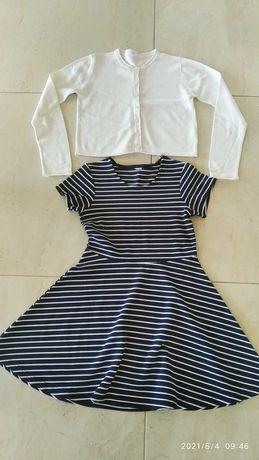 Sukienka , bolerko cocodrillo - zestaw , strój galowy 134