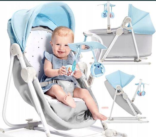 Kinderkraft UNIMO 5w1 łóżeczko, kołyska, leżaczek, bujaczek,krzesełko.