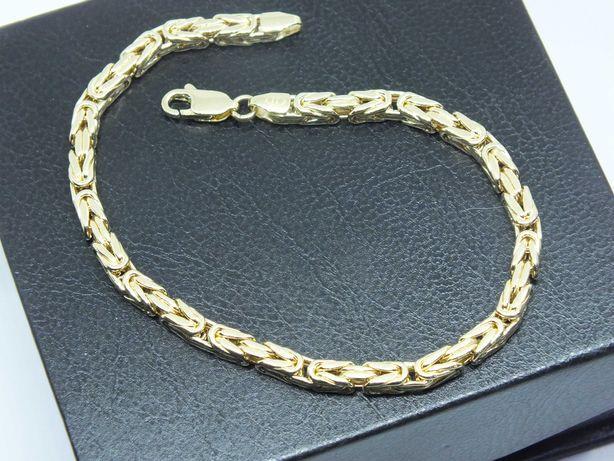 **Nowa złota bransoletka 7,28g p.585-splot królewski-Lombard Stówka**