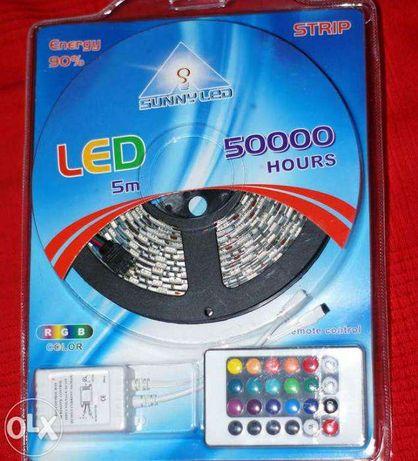 Taśma LED RGB - zmieniaj kolory!! + zasilacz+pilot i kontroler KOMPLE