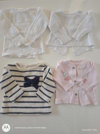 Sweterki, rampersy dla dziewczynki rozm. 50-56