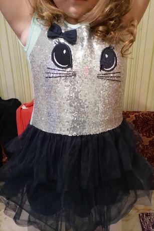 Платье плаття перевертыши паетки фатин пышное нарядное