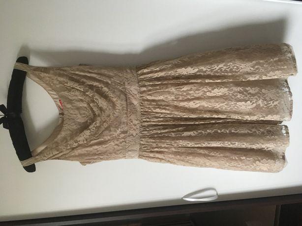 Sukienka Tiffi R 36 S beżowa koronka