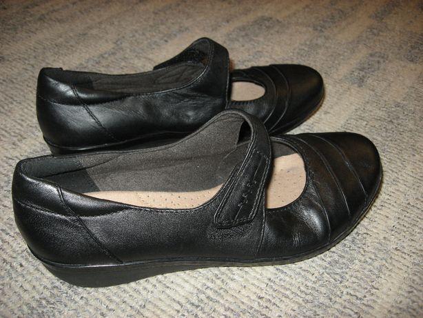 CLARKS Skórzane buty balerinki właściwie nowe 37,5 OKAZJA!