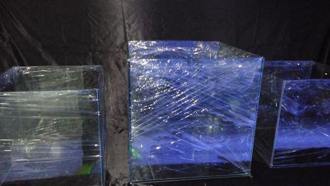Aquario cubo 50x50x50 em vidro 8mm novo