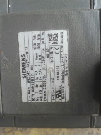 SIEMENS 1FK7 Servomotor 1FK7042-5AK71-1DG3