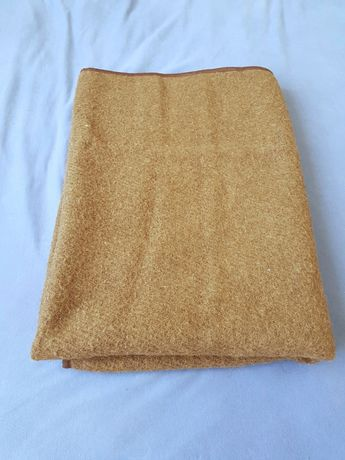 Шерстяное одеяло плед из мериносовой шерсти Ярослав 100х150