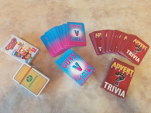 Карты игровые, не игральные Hasbro (не покер, дур#к и т.д.) Три колоды