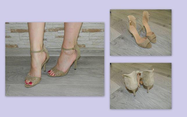 buty na obcasie CCC szpilki odkryte palce