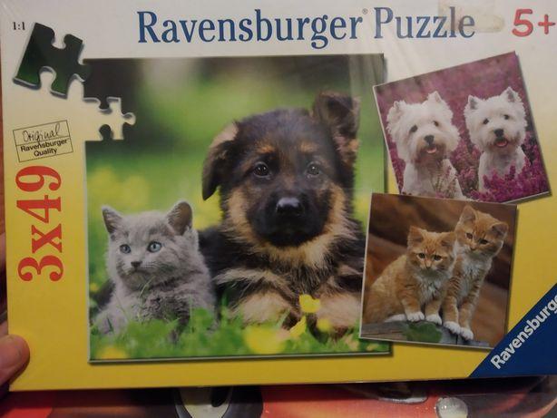 Ravensburger Puzzle - Psy & Koty.