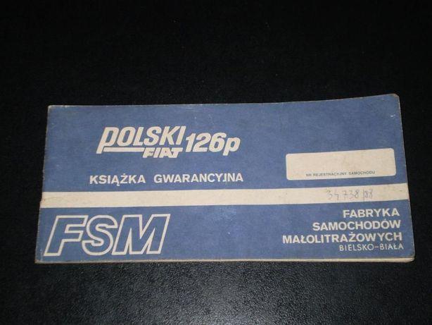 Książka gwarancyjna PF 126p