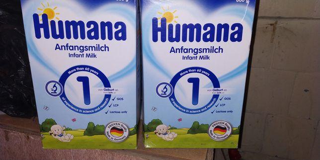 Смесь Хумана #1(#2) 600гр Humana скидка!