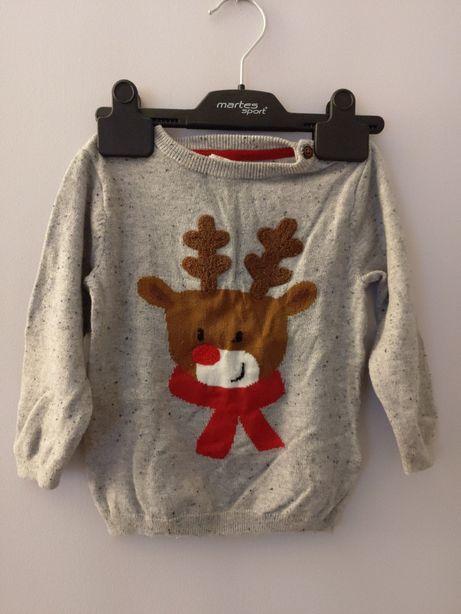 H&M sweterek dla chłopca r.86