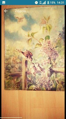 Śliczny Obraz olejny antyk rok 1886