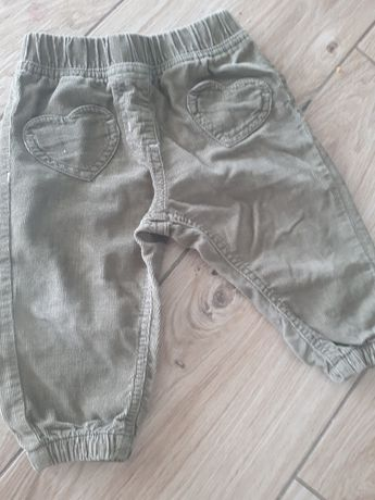 spodnie sztruksowe 74