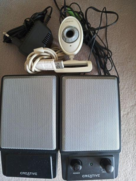 Głośniki i kamerka internetowa