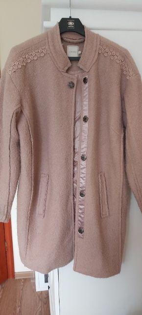 Płaszczyk z wełny, płaszczyk CREAM, płaszcz wełniany, kurtka wełniana