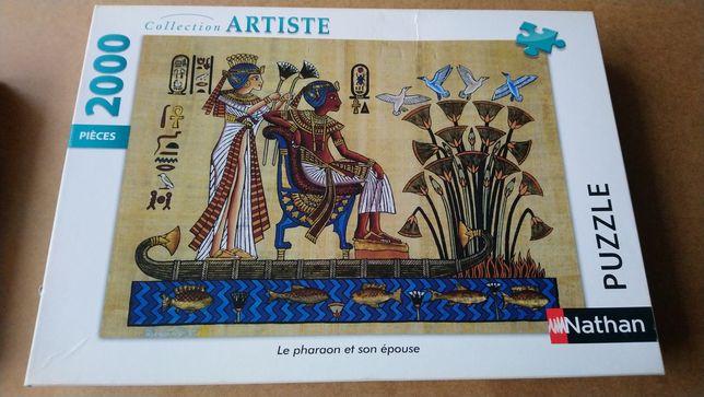 Puzzle Nathan 2000 Faraon i jego żona, Le pharaon et son épouse