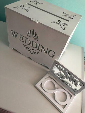 Шкатулка для обручок,Скринька,вивіска для наречених