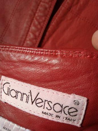 Юбка кожа Gianni Versace оригинал