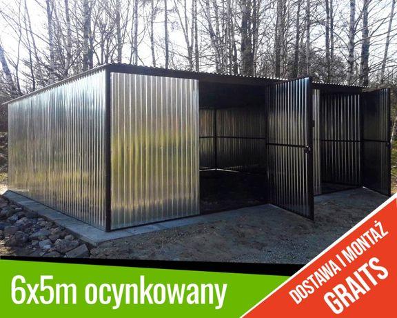 TRANSPORT MONTAŻ GRATIS garaż 6x5 Garaże blaszane blacha ocynk blaszak