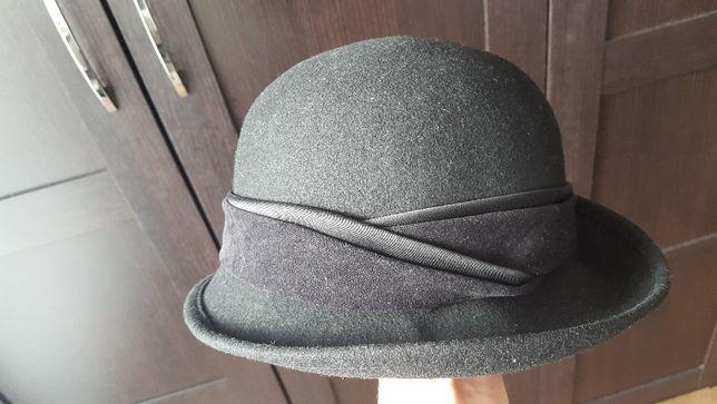 EVITA kapelusz czarny 51 cm obwód EVITAHATS klasyczny czapka czarna