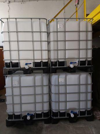 Czyste paletopojemniki na deszczówkę idealne czyste 1000l