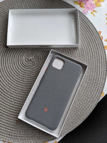 Pixel 4xl fabric case etui w kolorze szarym