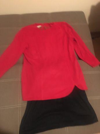 Sukienka czerwono-czarna