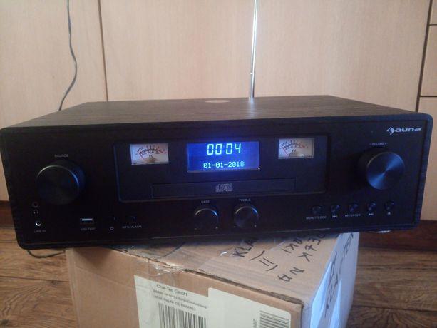 Radio retro, ładowanie bezprzewodowe, odtwarzacz CD, Bluetooth, DAB+