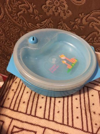 Тарелка миска с водяным подогревом на присоске