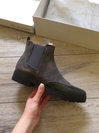 Кожаные ботинки geox, оригинал, ботильоны, туфли, сапоги челси