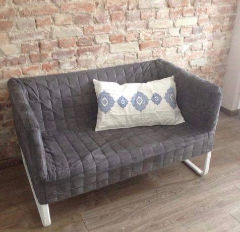 Sofa KNOPPAPR dwuosobowa ciemno szara Ikea