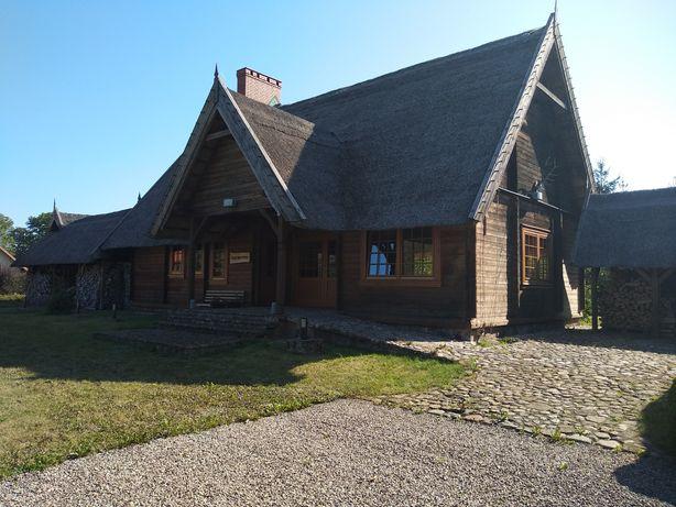 Dom drewniany.Wesele,Kawalerski,Kaszuby,Jezioro,Komunie,Chrzciny.
