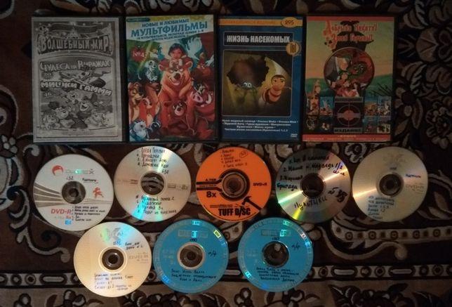 Двд с мультфильмами (цена указана за все)