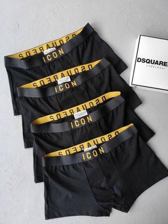 Мужские наборы трусов Icon, Calvin klein, Armani, Moschino TOTAL BLACK
