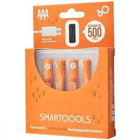 Аккумуляторные батарейки Smartoools ААA 450mah 4 шт