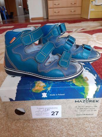 Sandały buciki profilaktyczne Mazurek r.27 18cm gwarancja super stan!!