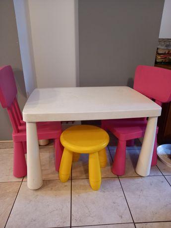 Stolik dziecięcy MAMMUT + 3 krzesełka