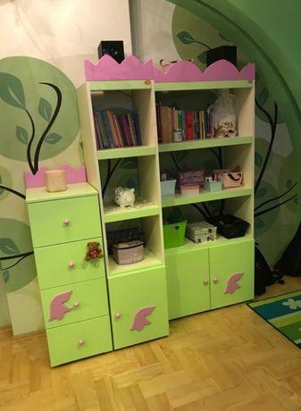 7Meble Baggi Design ŚLICZNE meble dziecięce zestaw Jak Nowe