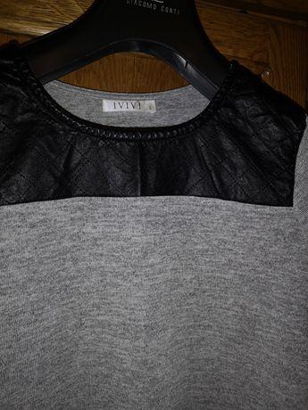 Bluzka szara długi rękaw XL
