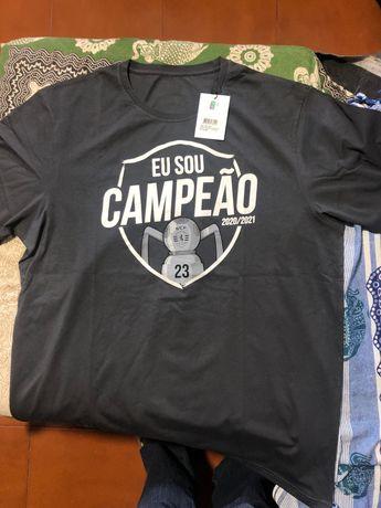 Camisola oficial Sporting campeão à frente assinada por todos jogadore