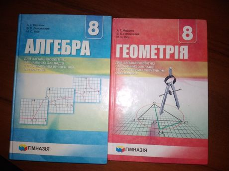 Підручники  з алгебри і геометрії 8клас(профільний)!