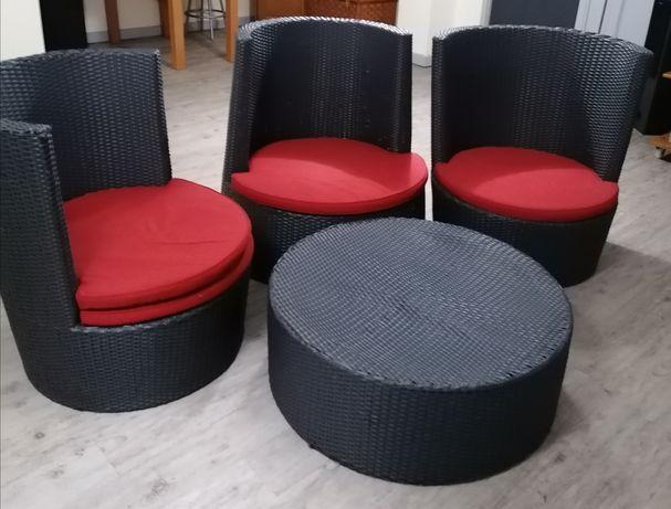 Rattan mobiliário de jardim