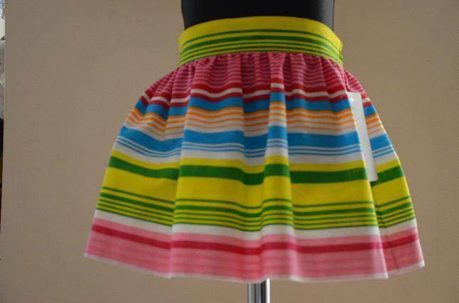 Spódnica bawełniana w kolorowe paski rozm. od 98 do 122