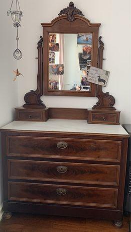 Comoda antiga marmore e espelho
