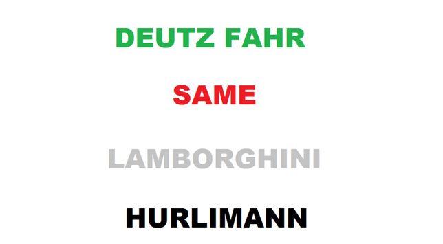 Katalogi części instrukcje napraw same LAMBORGHINI deutz fahr HURLIMAN